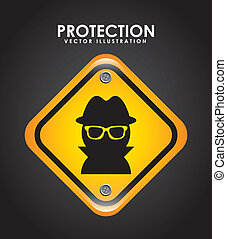 security design over black background vector illustration