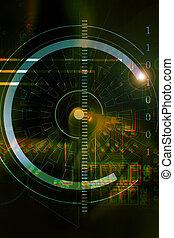Security - computer background illustration