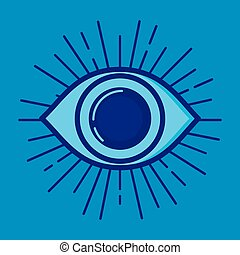 security eye fintech icon vector illustration design