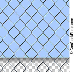 Security Fence Pattern - Iron wired fence as a seamless...