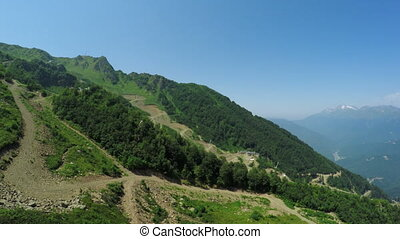 Security fencing in mountains