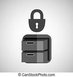 security file cabinet icon design