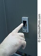 Security Finger Print Door Open