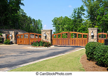 Security Gate - Stately Entrance to New Gated Community