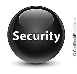 Security glassy black round button