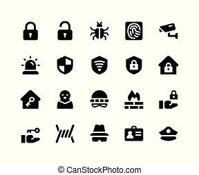 Security Glyph Icons