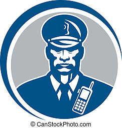 Security Guard Police Officer Radio Circle