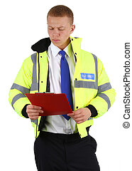 Security guard with board