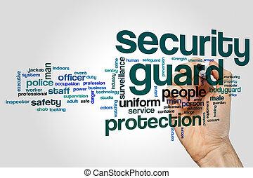 Security guard word cloud