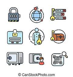 security icon set color