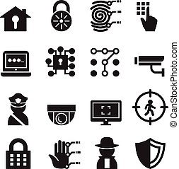 Security icon set