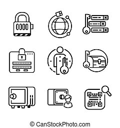security icon set vector illustration design