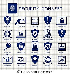 Security icons on notebook page