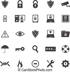 Security icons on white background