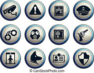 Security icons set