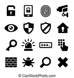 Security Icons Set - Security Icons on White Background....