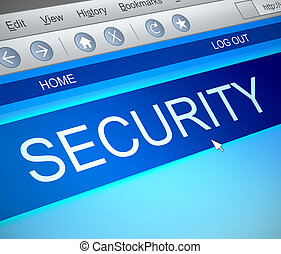 Security information concept.