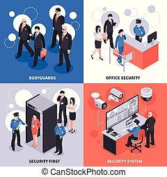 Security Isometric Design Concept