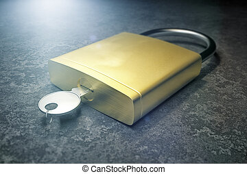 Security Lock - An image of a typical security lock