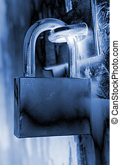 Security lock as background