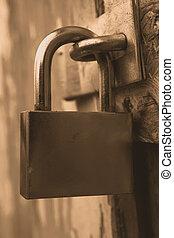 Security lock, close - up