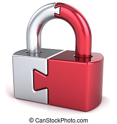 Security lock icon concept