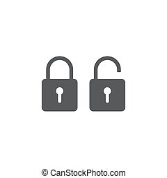 security Lock Icon Flat Graphic Design isolated on white