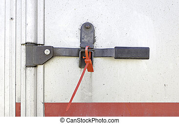 Security Lock - Safety lock on the back of truck, transport...