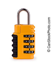 Security Lock - Security lock isolated on white with...