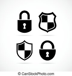 Security lock vector icon