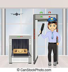 security lufthavn, skanner