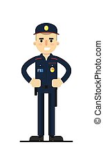 Security man in uniform vector illustration