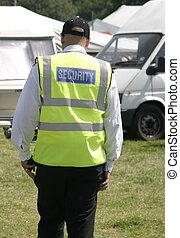 security man walking around the showground