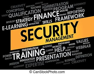 Security Management word cloud