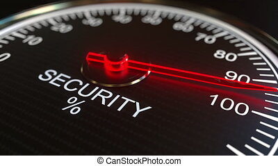 Security meter or indicator conceptual animation - Analog...