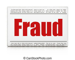 Security news concept: newspaper headline Fraud on White...