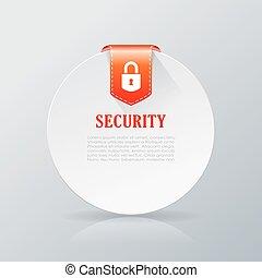 Security notice card
