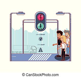 security of pedestrian in the road