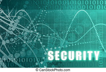 Security Online Software as Blue Abstract Art