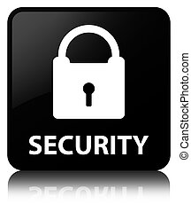 Security (padlock icon) black square button