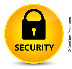 Security (padlock icon) elegant yellow round button