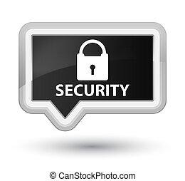 Security (padlock icon) prime black banner button