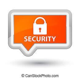 Security (padlock icon) prime orange banner button