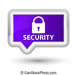 Security (padlock icon) prime purple banner button