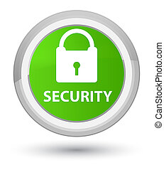 Security (padlock icon) prime soft green round button