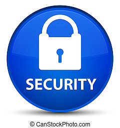 Security (padlock icon) special blue round button