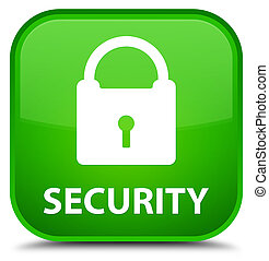 Security (padlock icon) special green square button