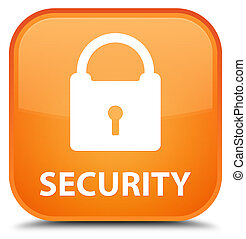 Security (padlock icon) special orange square button