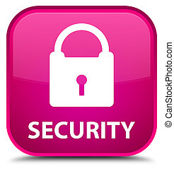 Security (padlock icon) special pink square button