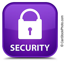Security (padlock icon) special purple square button